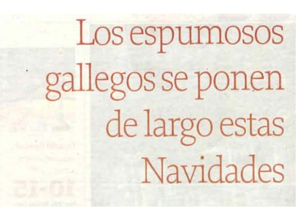 La Voz de Galicia. Diciembre 2014